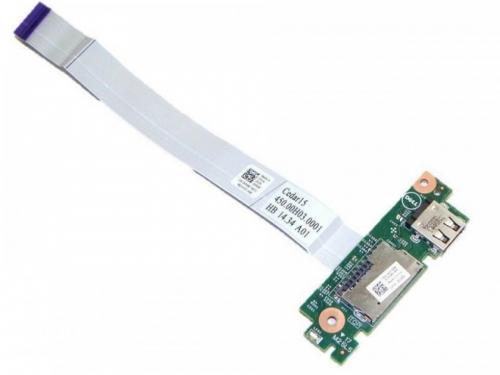 USB плата, картридер ноутбука Dell inspiron 15 серии, C0T2X, 0XP600 , 0R1F2R