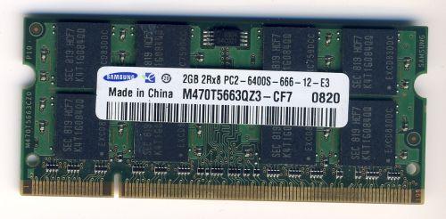 Память для ноутбука SO-DIMM DDR2, 2 Гб, 800 МГц (PC-6400) Samsung
