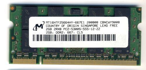 Память для ноутбука SO-DIMM DDR2, 2 Гб, 667 МГц (PC-5300)