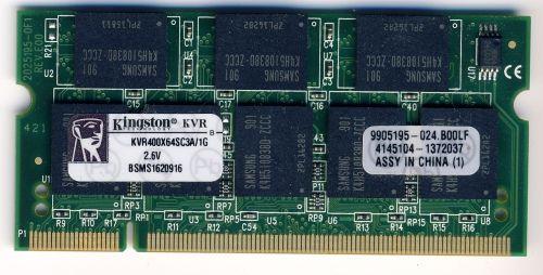 Память для ноутбука PC3200 DDR400 200PIN 400 мГц ddr1 SODIMM 1gb