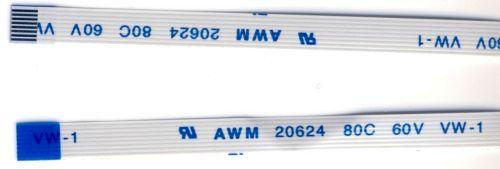 Шлейф точпада Asus и других , 8 pin 0,5мм перевернутый  280 мм