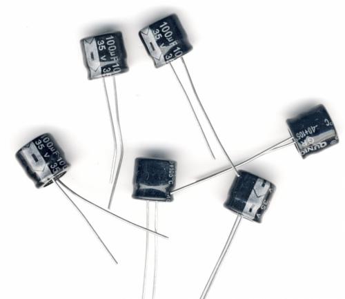Конденсатор электролитический 100x35v (8x7 мм)