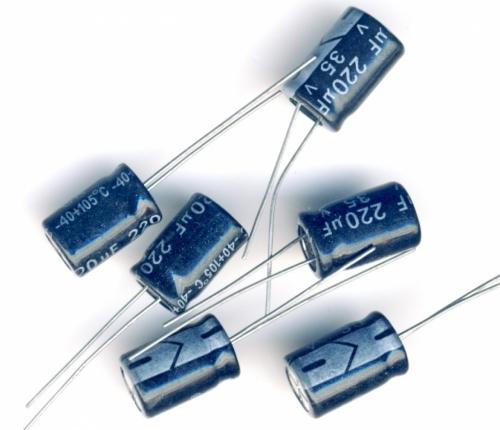 Конденсатор электролитический 220x35v (8x12 мм)