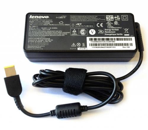 Блок питания ноутбука 90w прямоугольный разъем  Lenovo IdeaPad G500, ThinkPad X1 Carbon, Yoga Series, Flex 14, Flex 15