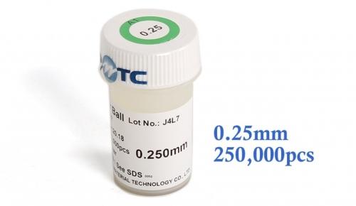 0.25 mm шариковые выводы для BGA микросхем 0.25 мм, 250000 шт