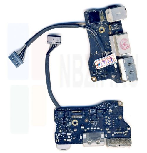 820-2861-A Плата I/O с разъемами Audio USB MagSafe MacBook Air 13 A1369 Late 2010 661-5792 820-2869 820-2861