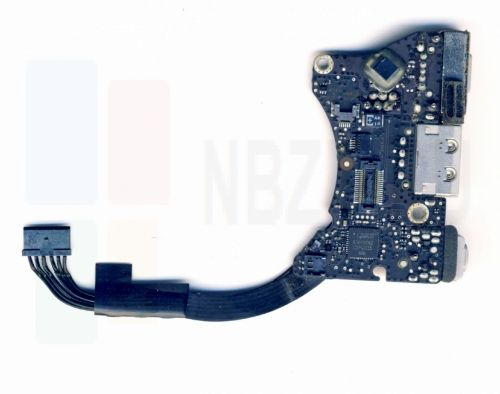 922-9972 Плата I/O с разъемами Audio USB MagSafe MacBook Air 11 A1370 Mid 2011 820-3053