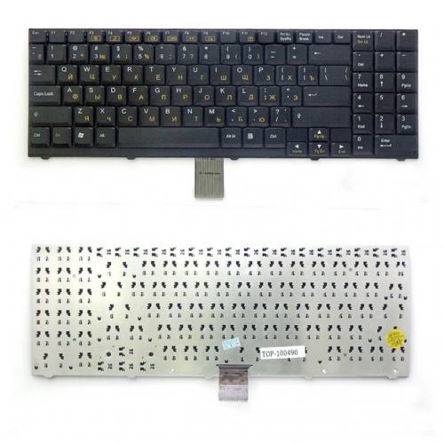 Клавиатура ноутбука DNS Clevo D27, D70, D470, D900, M57, M570, M590, RoverBook V555