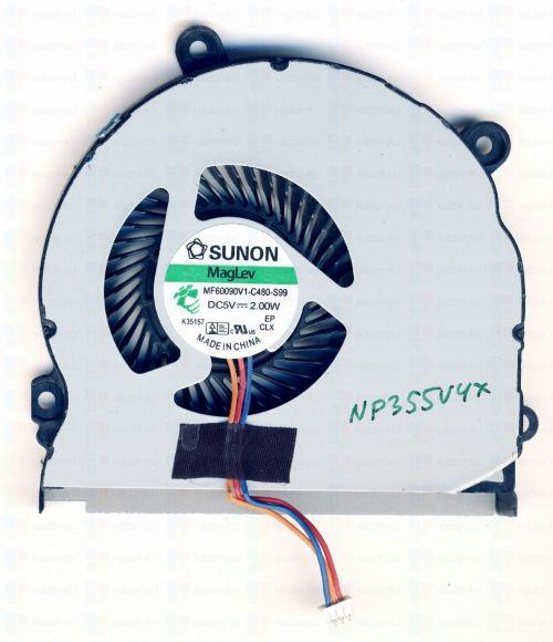 Вентилятор (кулер) для ноутбука: Samsung NP350E5C, NP350V5C, NP350E7C, NP355E5C, NP355E5X, NP355V4C, NP355V5C, NP355V5X, NP365E5C, NP-350, NP350V5A