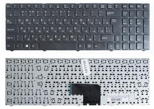 Клавиатура ноутбука DNS Pegatron C15, C17 Series Черная MP-13A83SU-5283