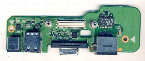 Dell Inspiron 1545 DC Power Jack USB Board 48.4AQ20.011