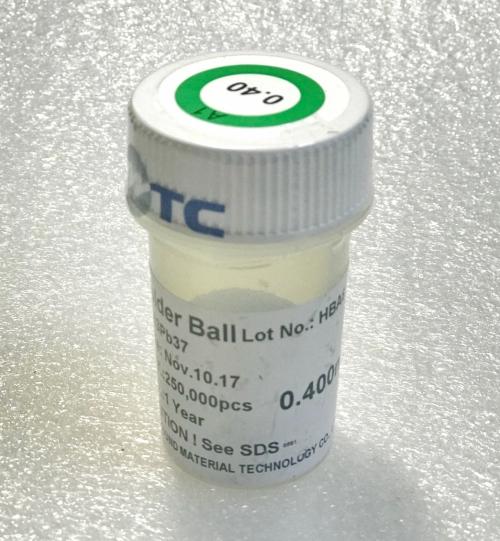 0.4mm шариковые выводы для BGA микросхем 0.4 мм, 250000 шт