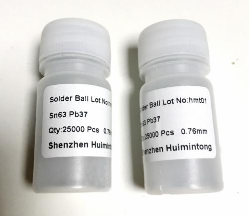 0.76mm шариковые выводы для BGA микросхем 0.76мм, 25000 шт