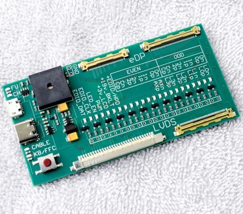 Тестер шлейфов матрицы LVDS и eDP + тестер клавиатур . Новая версия !
