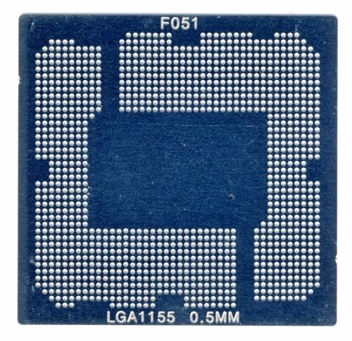 Трафарет прямого нагрева LGA1155 socket Intel