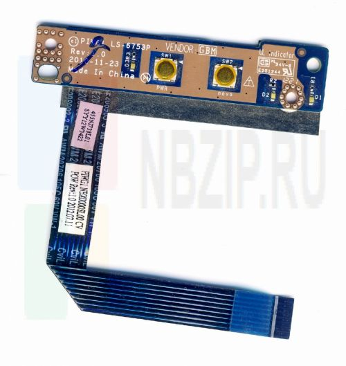 Плата кнопки включения Lenovo G470 G475 G570 G575 G770 G780 LS-6753P
