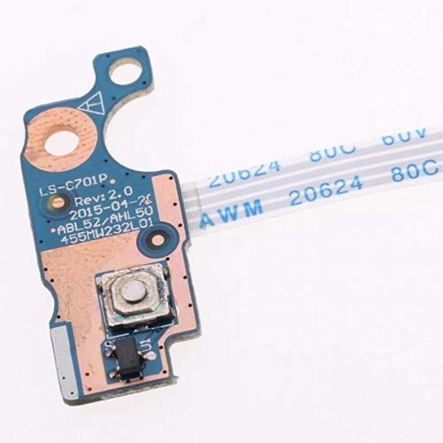 Плата с кнопкой включения LS-C701P для ноутбуков HP 15-ac Series