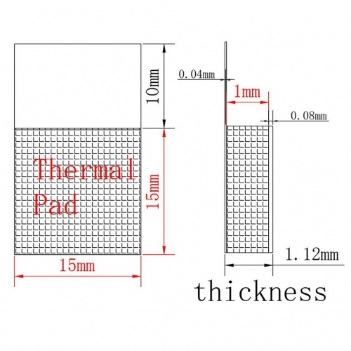 Термопрокладка , терморезинка Laird Flex 760 , 15х15х1мм 5 штук