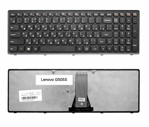 Клавиатура для ноутбука Lenovo IdeaPad Flex 15, G500S, G505, S500, S510, Z510 Series. Черная, с рамкой. PN: NSK-BMASU