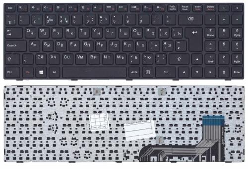 Клавиатура для ноутбука Lenovo Ideapad 100-15IBY, B50-10, B5010 черная, с рамкой