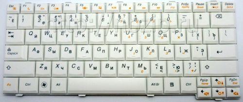 Клавиатура ноутбука Lenovo IdeaPad S12 белая