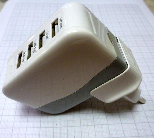 Блок питания планшета, телефона USB зарядка . 4xUSB