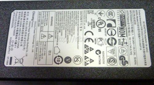 Блок питания ноутбука Samsung 19V 4,74A (90W) 5x3мм ORIGINAL