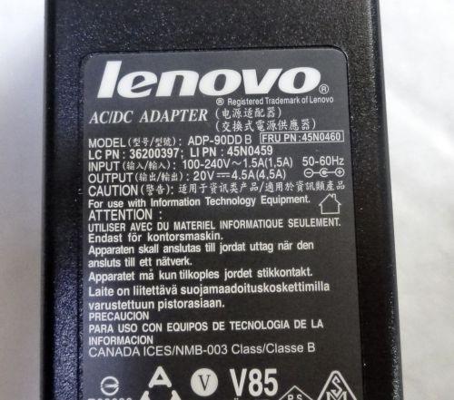 Блок питания ноутбука Lenovo 20V 4,5A (90W) 5,5x2,5мм ORIGINAL