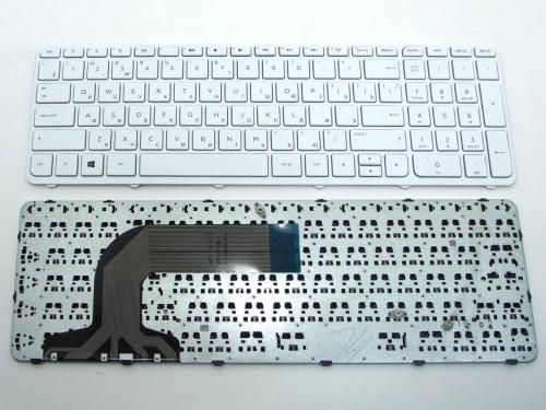 Клавиатура для ноутбука HP Pavilion 17-e серии с рамкой белая