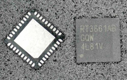 RT3661AB RT3661ABGQW Dual-Output PWM Controller Richtek