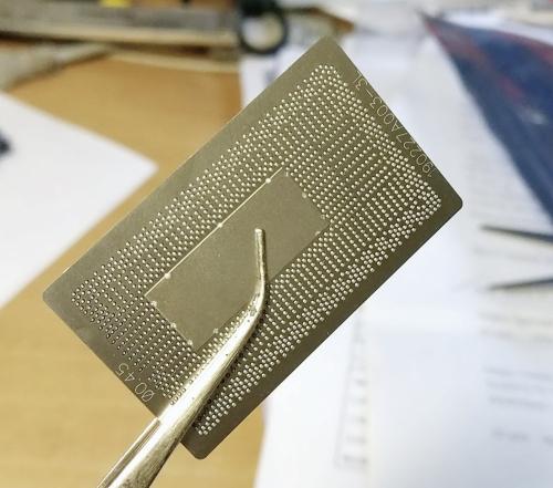 Трафарет прямого нагрева BGA1356 , Intel 6,7,8  поколение ,SR2EU SR2EY 0.45mm . Лазер.