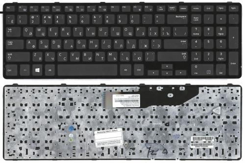 Клавиатура для ноутбука Samsung NP300E7C, NP350E7C, NP355E7C, черная, с рамкой