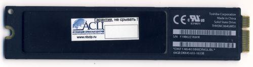 64GB SSD Toshiba жесткий диск для Apple MacBook Air A1369 A1370 2010/2011 655-1633a 2010 2011