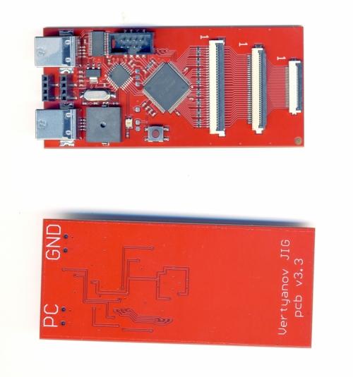 Программатор мультиконтроллера Vertyanov JIG V3.3 KBC,MEC, ITE, NUVOTON полный комплект