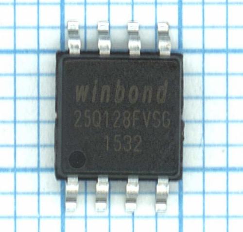 W25Q128FVSG SPI Flash 128 MBit 3.0V. Производитель: Winbond