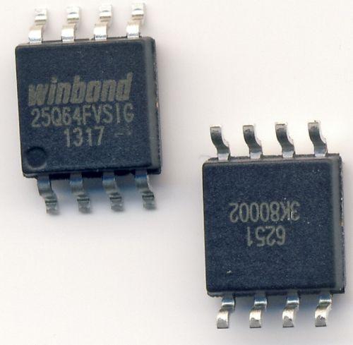 Микросхема BIOS W25Q64FVSIG 8mb