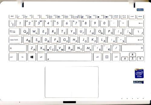 Верхняя панель Asus X200CA с клавиатурой в сборе белая