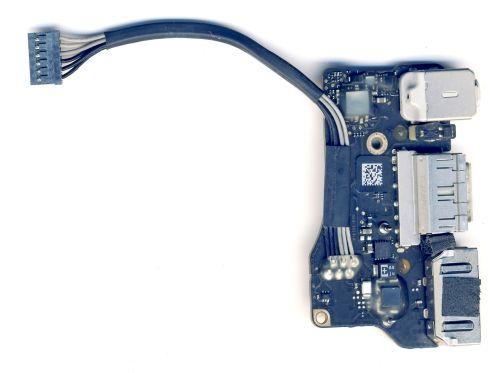 """923-0125 Плата питания Magsafe2 с шлейфом для Macbook Air 13"""" A1466 (2012)"""