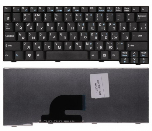 Клавиатура Acer Aspire One 531, A110, A110L, A110X, A150, A150L, A150X, D150, D210, D250, P531, P531f, P531h, ZG5, ZG8, eMachines eM250