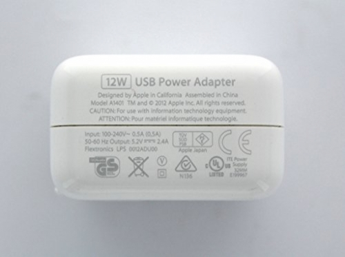 Зарядное устройство Apple USB 12w для iPad, iPhone A1401 MD836ZM/A