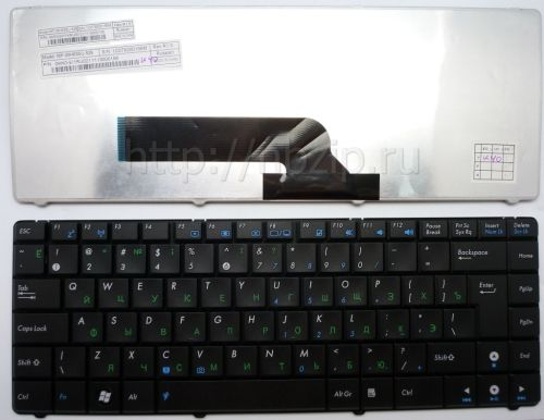 Клавиатура ноутбука Asus K40, X8, F82, P80, P81