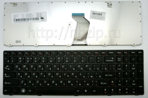 Клавиатура ноутбука Lenovo IdeaPad G580, G585, G780, Z580, Z580A, Z585, Z780, V580