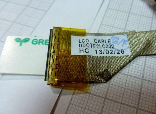 DD0TE2LC000 Шлейф матрицы Toshiba L600, L640, L645, C600,C630, C640