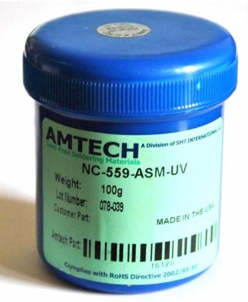 Флюс AMTECH NC-559-ASM-UV 100 гр. Оригинал !