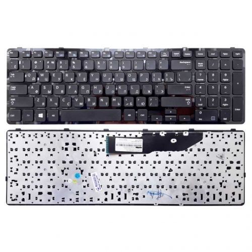 Клавиатура для ноутбука Samsung NP270E5E, NP300E5V, NP350V5C, NP350E5C, NP355E5C, NP350V5C, NP355V5C, NP550P5C черная, с рамкой