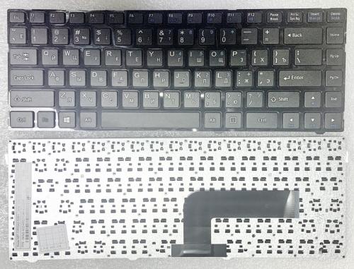 Клавиатура для ноутбука DNS 0150931, Pegatron B14Y, Clevo W740, W840 Series, черная с рамкой !