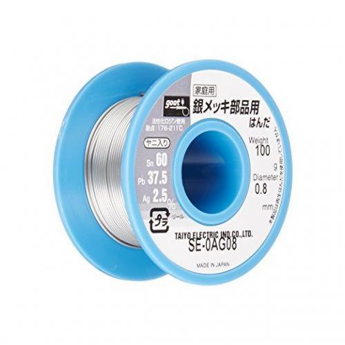 Припой в катушке 100 гр 0,8 мм GOOT Япония с серебром