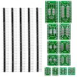 Набор переходников под пайку 12 шт SOP4-SOP28 TSSOP4-TSSOP28 SMD to DIP