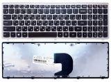 Клавиатура ноутбука Lenovo P500, Z500 черная ,серая рамка