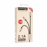 Кабель 3 в 1 Универсальный кабель  USB - micro USB, Lightning , USB Type C длина 1,5 метра .